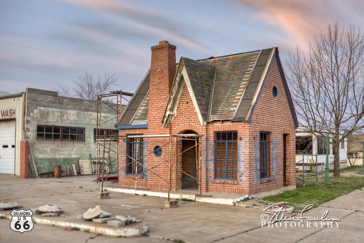 158 Cottage Style Gas Station Restoration Chandler Ok