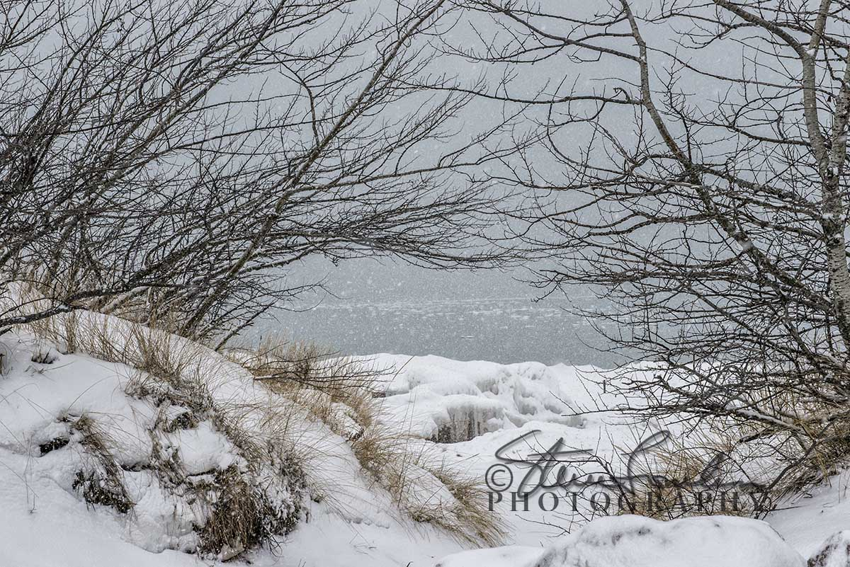 Ice On The Lake At Point Betsie