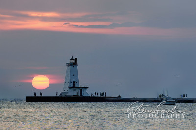 MSL053-Ludington-Light-Sunset-#1-2