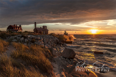 PBL172-August-Sunset-At-Pt-Betsie-watermarked