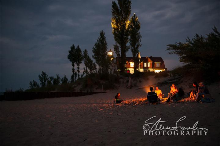 PBL175-Beachfire-At-Pt-Betsie-watermarked